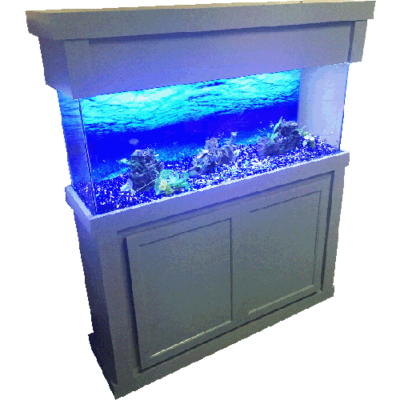 55 75 90 gallon Modern Birch Grey Fish Tank Stand