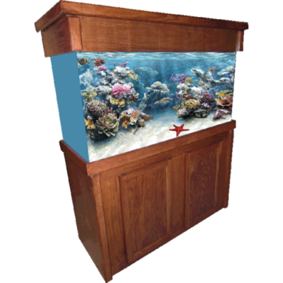 75 or 90 Cherry Signature Fish Tank Stand & Canopy