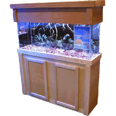 55 gallon fish tank stand in maple