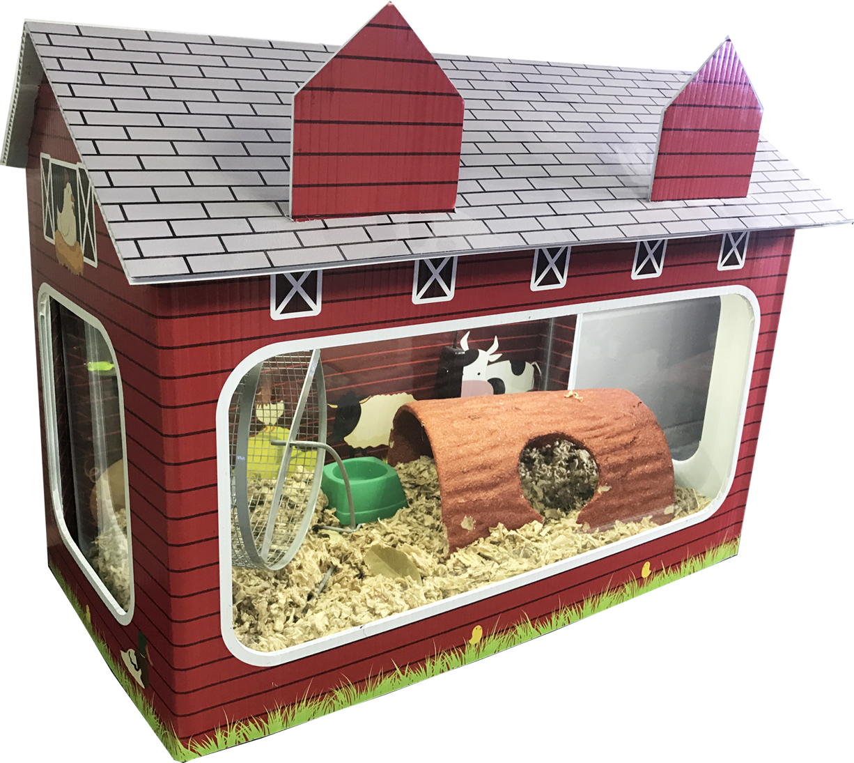 The tank house by r j will dress up your 10 gallon fish tank for Fish tank house