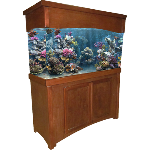 55 gallon Cherry Calypso Fish Tank Stand u0026 Canopy  sc 1 st  Ru0026J Enterprises & Fish Tank Stands